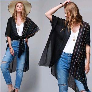New Multi Color Kimono Cardigan